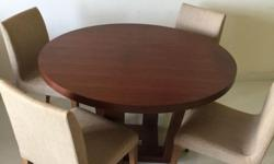 1x Quad Round Dining Table, from Lush, wood in American