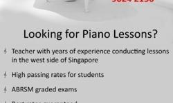 piano lessons conducted by very experienced teacher in