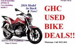 CALL US AT: 62939989 / 90224811 Quality used motorcycle