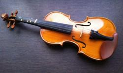 Handmade quater size violin, used for about 6 months,