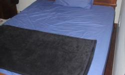 5 year old wooden queen bed and mattress. Excellent