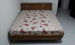 Queen Bed with head storage and King Koil mattress in