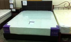 "Queen bedframe set complete with 8"" mattress high"