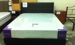 "Queen bedframe and mattress 8"" high density Brand New"