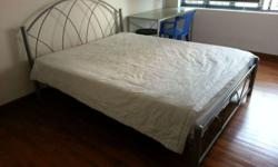 Queen size bed frame for sale @ $199. Call or SMS