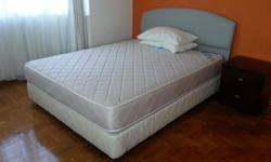 Queen size bed with back rest (does not attach to bed