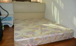 Queen size bed frame with Headboard, spotless,