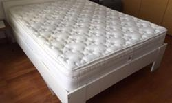 IKEA Queen Size bed frame, High quality Serta mattress,
