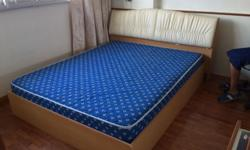 Queen size bed with mattress. About 4 years old. In