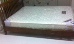 Queensize Mattress And Bedframe Bought in 3/9/13 Good