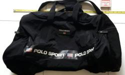 Ralph Lauren Polo Sports very big, soft black bag, with