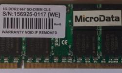 Item code BJ1-2 ~RAM - 1GB DDR2-677 SO-DIMM For Laptop
