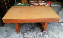 1950s U Leg Teakwood Dining Table with formica intact.