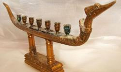 ~~~~ RaRe Cambodian BraSS DraGon Boat CanDLE Stand $488