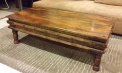 Rare Indian coffee table Intricate carvings on the side