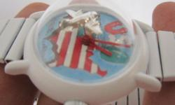 In WHITE Color Rare Vintage Men Mystery Winding Watch