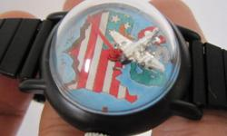 In Black Color Rare Vintage Men Mystery Winding Watch