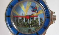 Mystery Disc Rare Vintage Men SUPERMAN Winding Wrist