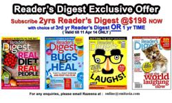 Readers Digest Magazine is the world's most widely read