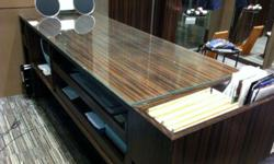 Custom made Reception table counter with 8mm thick
