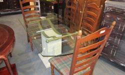 Glass top is in good condition, No chips, Only minor