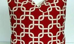 RED base White pAtterns Sofa cushions