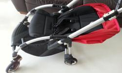Red Bugaboo Bee stroller Well maintained and in good