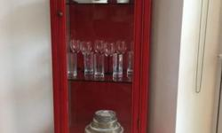 For sale - Red China glass display cabinet, barely used