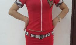 Red Military Cosplay Uniform Dress. Size M. Great for