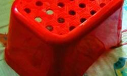 Red Plastic Stool Moving house sale While stocks last