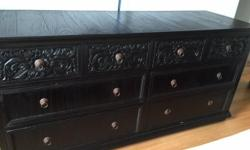 Selling a unique fabulous teak dresser with carvings in