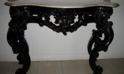 Absolutely stunning carved wooden console table, with