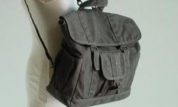 Product Name: Glen in Gray - Retro Camera Backpack