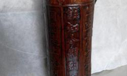 Revolution poetry carved ornamentation bamboo water