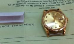 Rolex 15038 18k gold Selling 4688 With leather strap