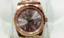 Rolex Datejust rosegold Sapphire glass Genuine weight!