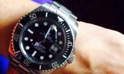 Rolex Submariner black Ceramic bezel Sapphire glass