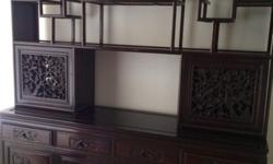 Antique Rosewood display cabinet in GOOD CONDITION.