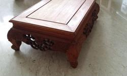 Used rosewood seat for either displaying items on it or