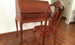 Genuine rosewood, over 20 years old Table with matching