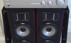 KENWOOD 2 WAYS 3 SPEAKERS FLOOR STANDING, 150 WATTS AND