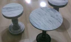 Have 2 x Rotating solid 20kg marble stool and 1 Marble