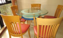 ROUND GLASS DINING TABLE TABLE DIAMETER 106 CM COME