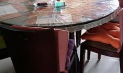 Price is negotiable Wear & tear marks on table pedestal