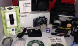 Complete set of Canon 1000D - $450 lense: 50mm Battery