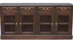 Features: � 4 H Stripe Door 4 Drawer Buffet � Stripe