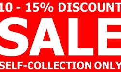 Sale - 10% or 15% Discount ~10% discount for minimum