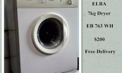Sale ELBA 7kg Dryer, EB 763 WH, free delivery. We have