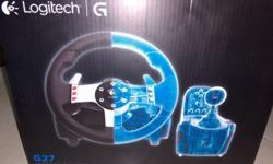Logitech G27 steering wheel with g-force and paddle
