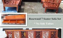 Sale Rosewood 7 Seater Sofa Set with Dragon Design,
